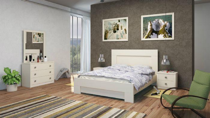 חדר שינה מור בגוון לבן ממלאי