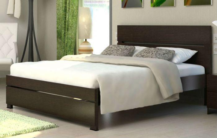 מיטה זוגית ספרינג בגוון לבן ממלאי