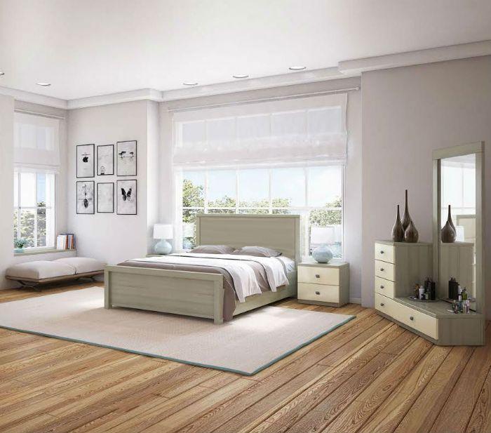 חדר שינה ארגו בגוון מולבן ממלאי