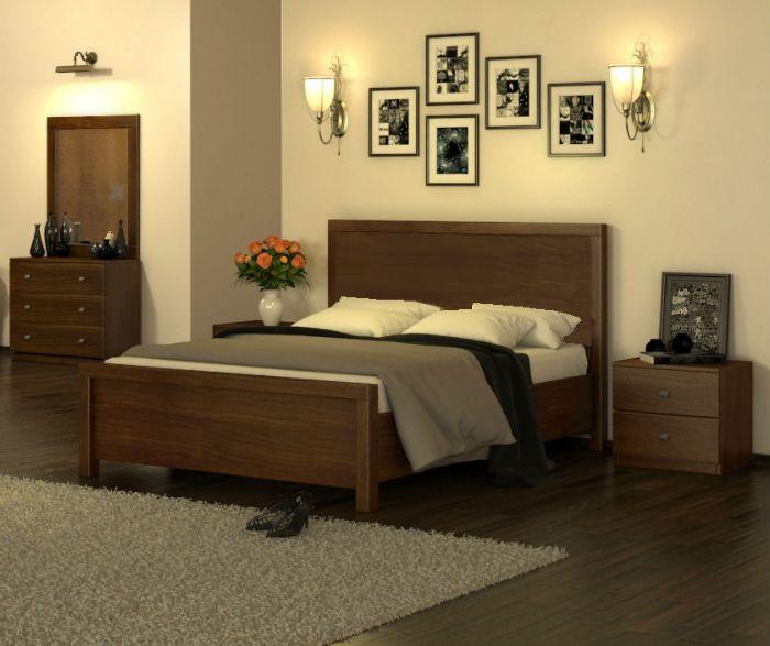 חדר שינה אוליבר 160X190 בגוון שמנת ממלאי