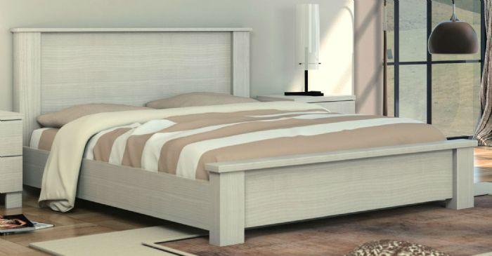מיטה זוגית לורי 160X190 בגוון שמנת ממלאי