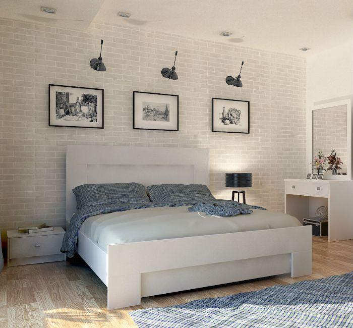 חדר שינה מאי 160X200 בגוון לבן ממלאי