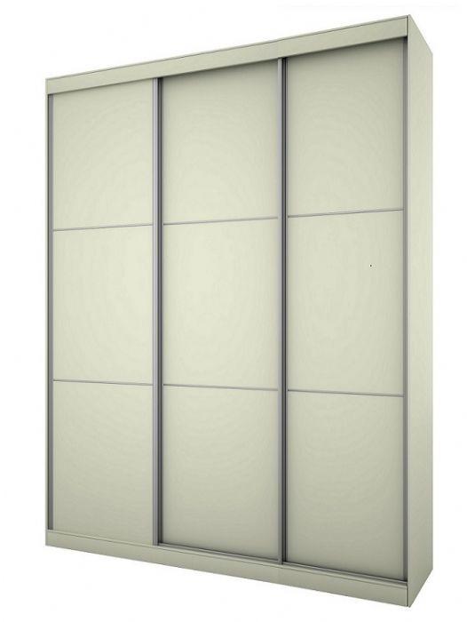 ארון הזזה 3 דלתות נועם 200 בגוון לבן+ 3 מדפים מתצוגה