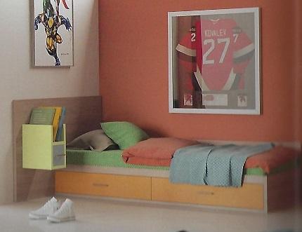 מיטת נוער קקטוס עם מגירות  + יחידה עם מגירה ומדף מתצוגה