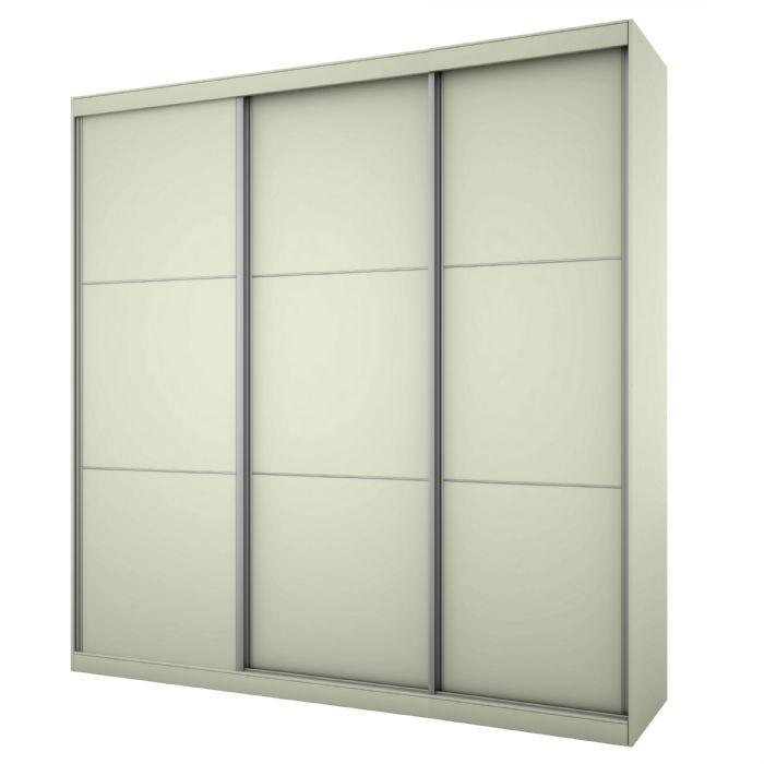 ארון הזזה נועם 3 דלתות 180 גובה 200 בגוון לבן ממלאי