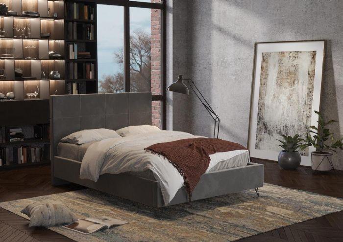 מיטה זוגית מרופדת דגם נרי