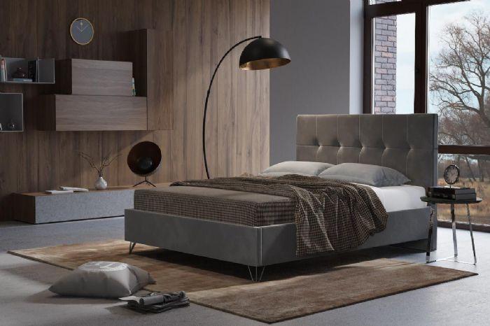 מיטה זוגית מרופדת דגם רומי