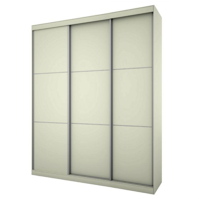 ארון הזזה 3 דלתות סטטוס 180בגוון לבן ממלאי