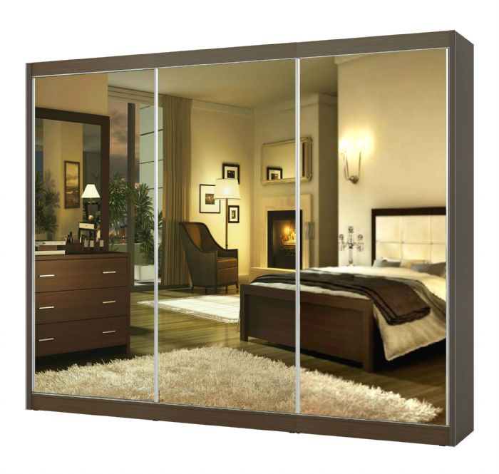 ארון הזזה 3 דלתות גולד 240 בגוון לבן ממלאי