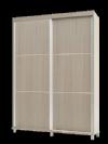ארון הזזה שביט רוחב 127 עם זוג מגירות בגוון לבן מתצוגה
