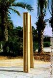 Column Casing, 1990, white pine, height: 280cm.
