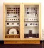 wood, glass and parts of the catalogue-box work.185x205x43cm. 1995