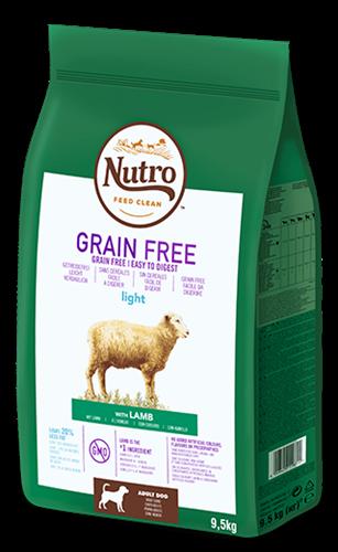 NUTRO נוטרו כבש נטול דגנים לגזע גדול 11.5 קג