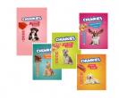 """מבחר חטיפי צ'אנקיז לכלב בסוגים שונים- 80 גר' ליחידה- 5 יחידות ב 50 ש""""ח"""