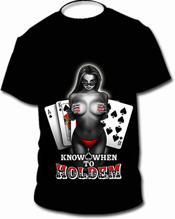 חולצת פוקר Hold'em במבצע