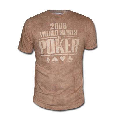 אזל במלאי !!חולצת פוקר WSOP Granite Washed Logo במבצע