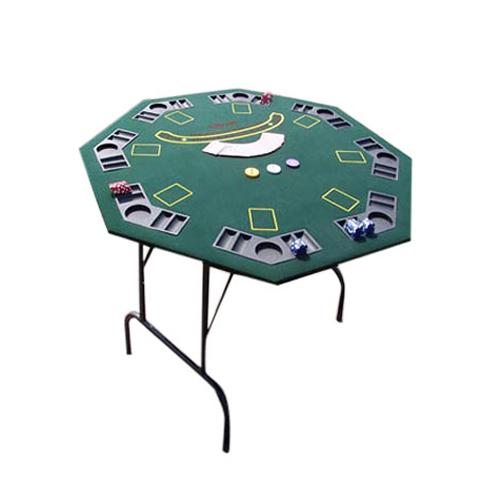 שולחן פוקר מתומן ל-8 שחקנים
