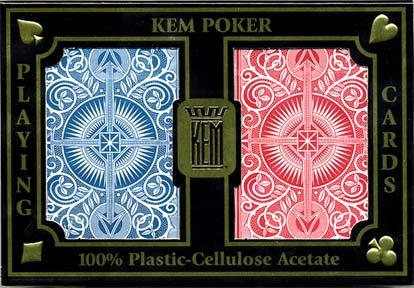 אזל במלאי !!!!קלפי KEM Arrow אדום וכחול 100% פלסטיק