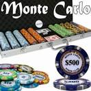 מזוודת פוקר 500 MONTE CARLO POKER CLUB משקל 13.5 גרם