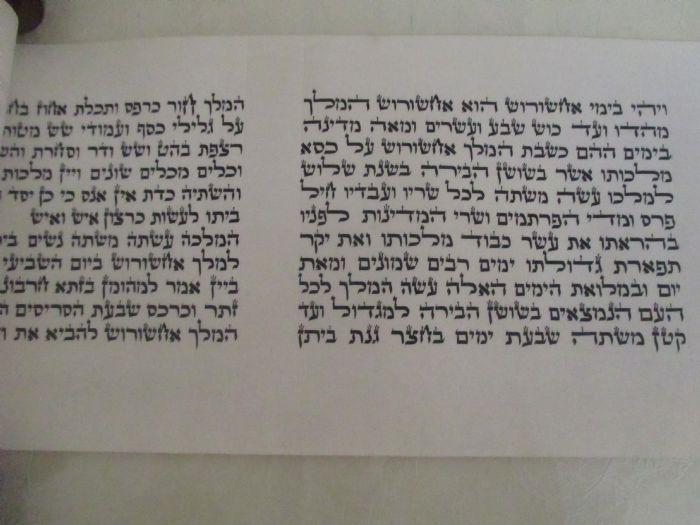 """מגילת אסתר מהודרת - """"המלך"""" 11 שורות"""